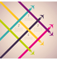colorful airplanes vector image vector image