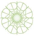 abstract linear green circle vector image