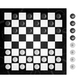 Checkers and board vector image