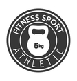 fitness sport athletic kettlebell weight vector image