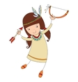 girl in costume of northern Indian vector image