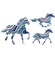 patterned horses vector image