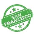 San Francisco green stamp vector image