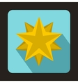 Ten pointed star icon flat style vector image