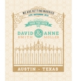 Wedding invitation vintage card with vector image