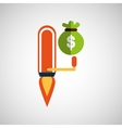 business growth icon bag money design vector image