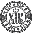 Grunge vip club rubber stamp vector image vector image