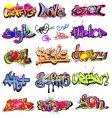 graffiti collection vector image