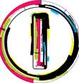 Colorful Grunge Font LETTER l vector image