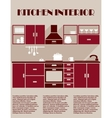 Kitchen interior infographic template vector image