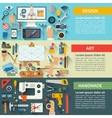 Set of flat design creative process concepts vector image vector image