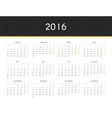 Simple modern calendar 2016 in German Ready for vector image