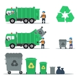 Garbage recycling set vector image