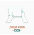 Use Tablet computer symbol vector image
