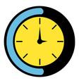 clock icon icon cartoon vector image