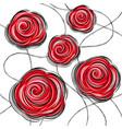 design red rose flowers vector image