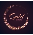 Gold rounded banner with glow effect on dark vector image