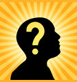 human silhouette with question mark sign vector image