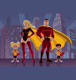 Superhero family 2 vector image