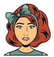 woman female comic pop art vector image