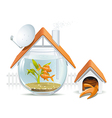 Aquarium home with a guard vector image vector image