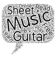 Can You Read Your Free Guitar Sheet Music text vector image