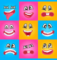 smiley faces with different expressions set vector image
