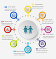 infographic template with public icons vector image