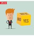 Cartoon Business man select choice - - EPS10 vector image vector image