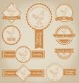 Chicken Meat Label Design vector image