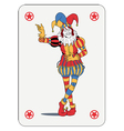 Joker playing card vector image vector image