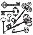 Antique keys vector image