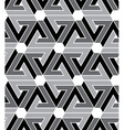 Black and white geometric zigzag seamless pattern vector image