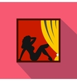 Amsterdam Red Light District icon flat style vector image