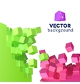 3D explosion background with cubical vector image vector image