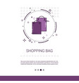 bags online shopping web banner with copy space vector image