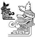 black and white mayan idol vector image
