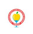 healthy ecological food logo design vector image