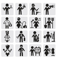 occupations and professions set vector image