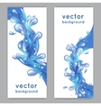Water Splash Banner vector image