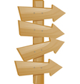 wooden pointer vector image