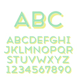 font grotesque 3d inline normal vector image