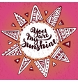 Handwritten quote You are my sunshine on ethnic vector image