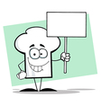 Chef Hat Guy Holding A Sign vector image vector image