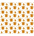 Grilled chicken seamless pattern flat style vector image