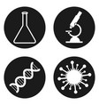 medical laboratory icons set in circle button vector image