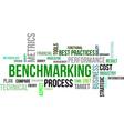 word cloud benchmarking vector image