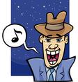 singing man cartoon vector image