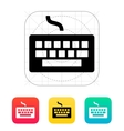 Wired keyboard icon vector image vector image