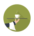 green tea on a tray vector image